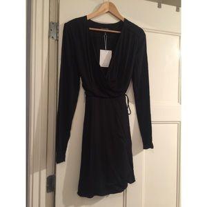 & Other Stories- Basic Black Wrap Dress NWT